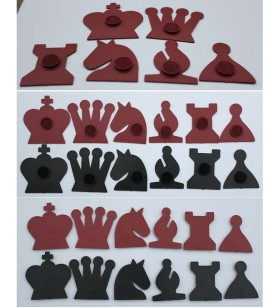 Magnetic chess pieces for...