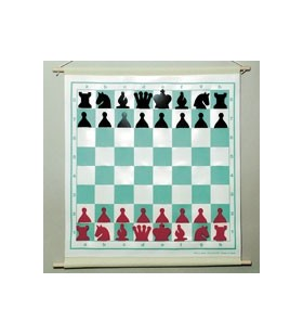Rollable wall chess set