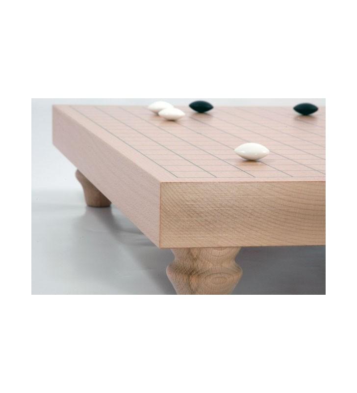 Goban  en Hêtre sur pieds 19x19 - 3,6 cm