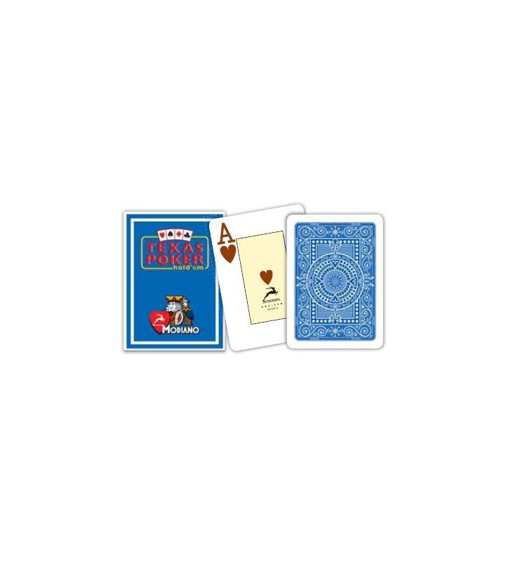 Cartes à jouer Poker Texas Plastic Modiano Bleu
