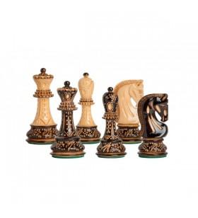 """Pièces d'échecs Russes """"Burnt"""" - taille 5"""