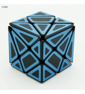 Cube Style Axis black Body with blue carbon fibre