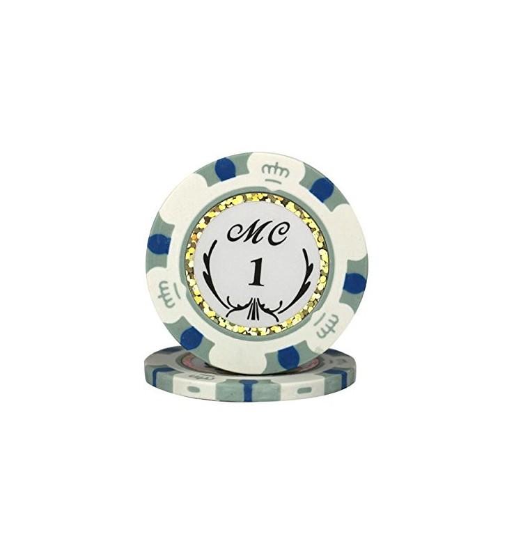 """25 Jetons de Poker """"MC"""" au rouleau en clay composite 13,5 gr"""