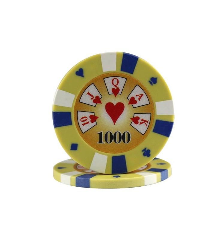 """25 Jetons de Poker """"3-color"""" au rouleau en clay composite 13,5 gr"""