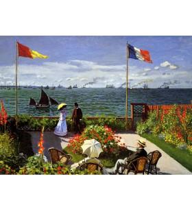 Puzzle 1000 pièces - Claude Monet- La terrasse au  Saint-Adresse