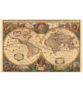 Puzzle 1000 pièces- Mappemonde Antique
