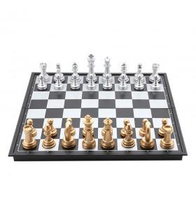 Coffret d'échecs  magnétique en plastique, pièces dorées et argentées Grand Modèle