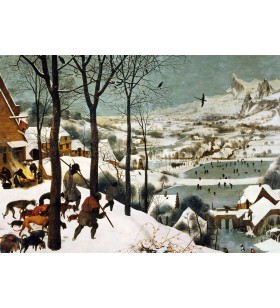 Puzzle 1000 pièces - Chasseurs dans la neige