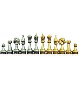 Pièces d'échecs métal Flowered